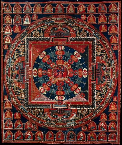 Artist-not-recorded-A-Mandala-of-Samvara-about-1700-painting-artwork-print