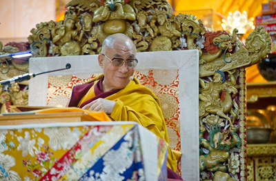 Dalai Lama Throne in Singapore 2012
