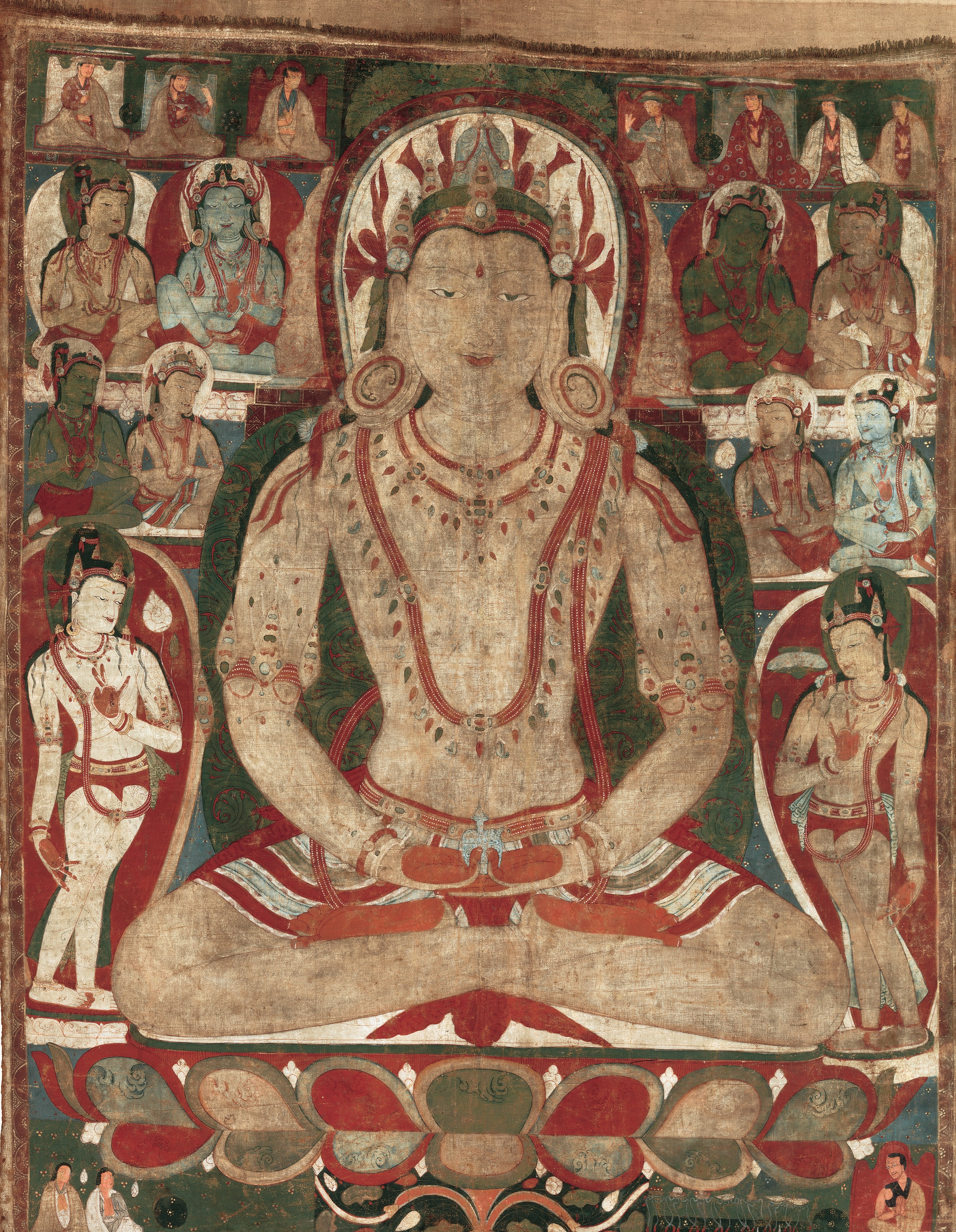 The Buddha Amitayus Attended by Bodhisattvas (Met Museum Collection)